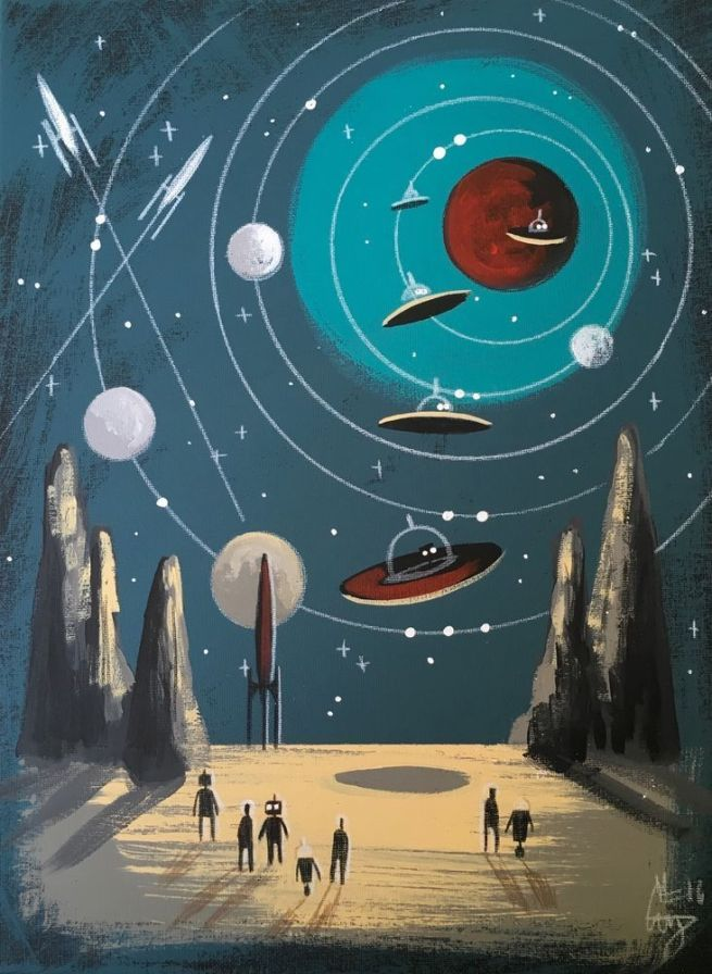 El Gato Gomez Painting of Space